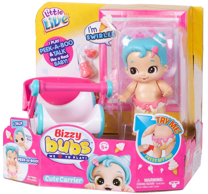 Bebelusi Little Live Babies cu funcții si accesorii SWIRLEE