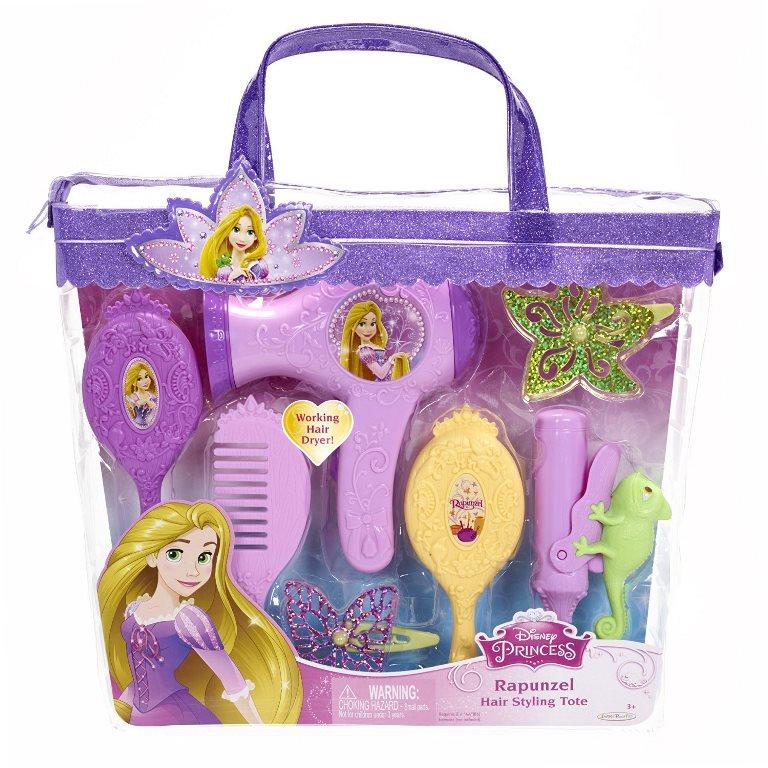 Set de coafura Printese Disney cu uscator de par functional Rapunzel