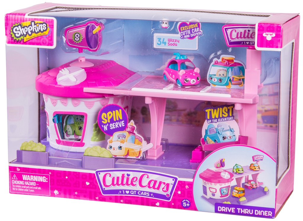 CUTIE CARS, playset restaurant drive in