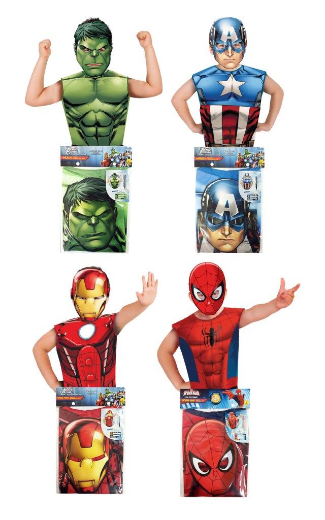 Set vestă + mască - eroii Marvel