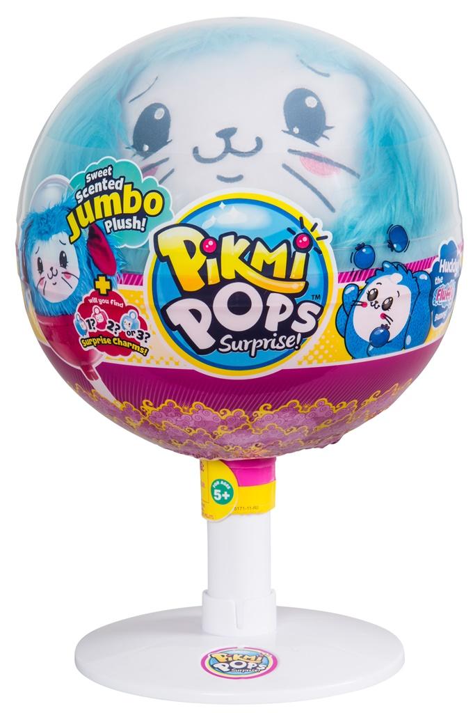 PIKMI POPS Pachet surpriza cu 1 personaj King Size, plus parfumat - Fluffy Bunny